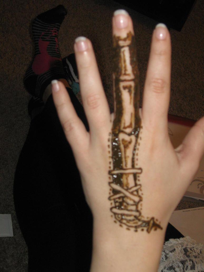 Henna bones by captainmorganteague on deviantart for Henna tattoo shop