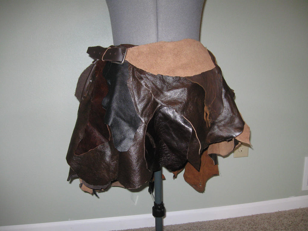 Leather scraps for crafts - Leather Scrap Skirt By Captainmorganteague