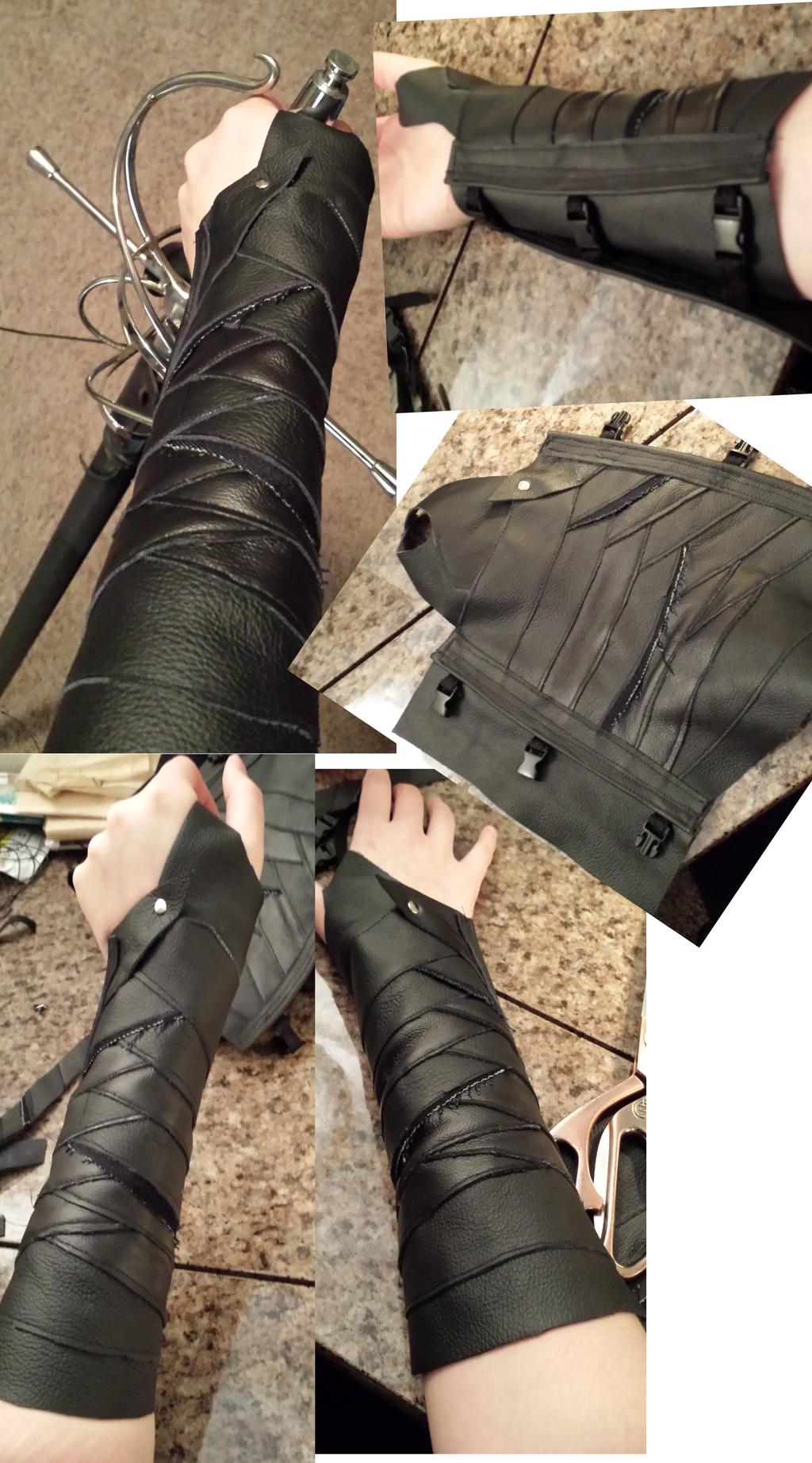 Leather bracers 3.0: Gamora by CaptainMorganTeague