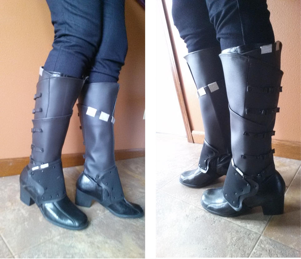How To Make A Book Cover Look Like Leather : Gamora boot covers by captainmorganteague on deviantart