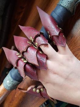 Leather Finger Gauntlets