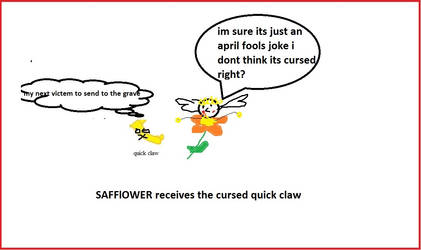 Safflower gets Cursed by mewtwo7778