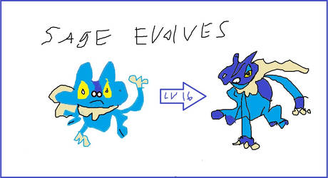 Sage evolves by mewtwo7778