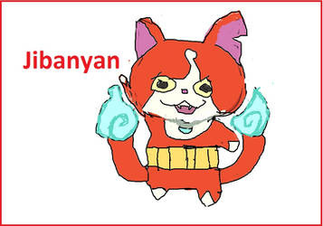 Jibanyan the yokai cat by mewtwo7778