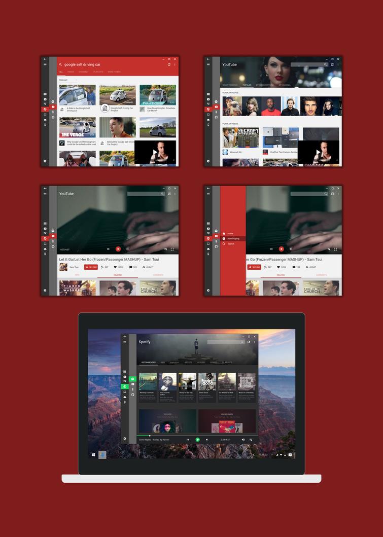 A Modern Media Center / Windows 10 Google: Desktop by wwsalmon