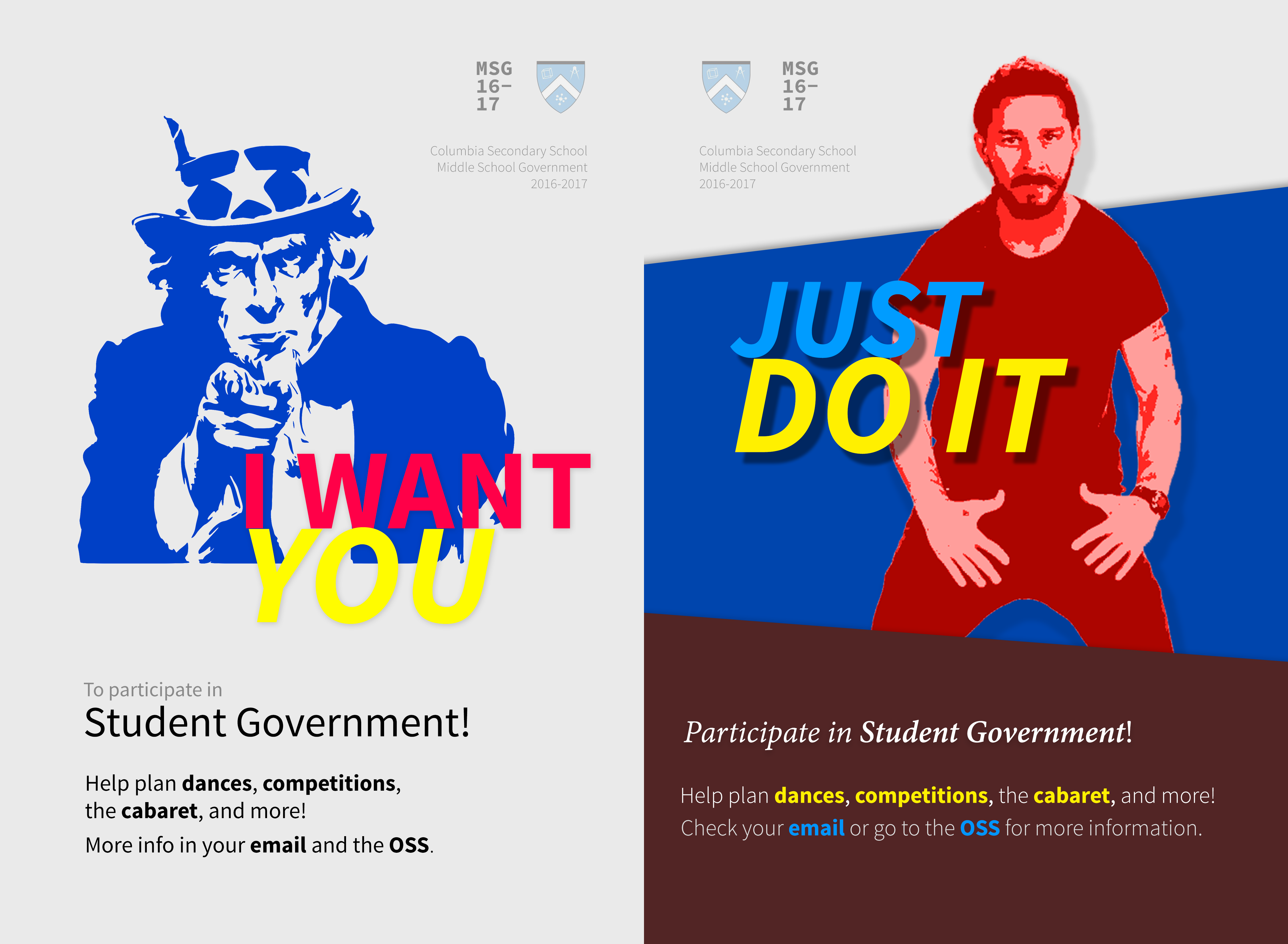 Student Government Promo Posters