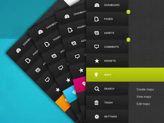 Admin vertical menu