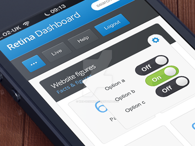 Mobile dashboard stats by web-designr