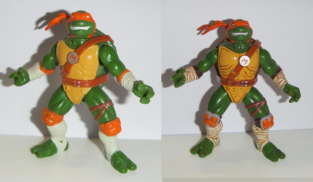 ninja turtles Michelangelo next mutation Custom by grayfox78