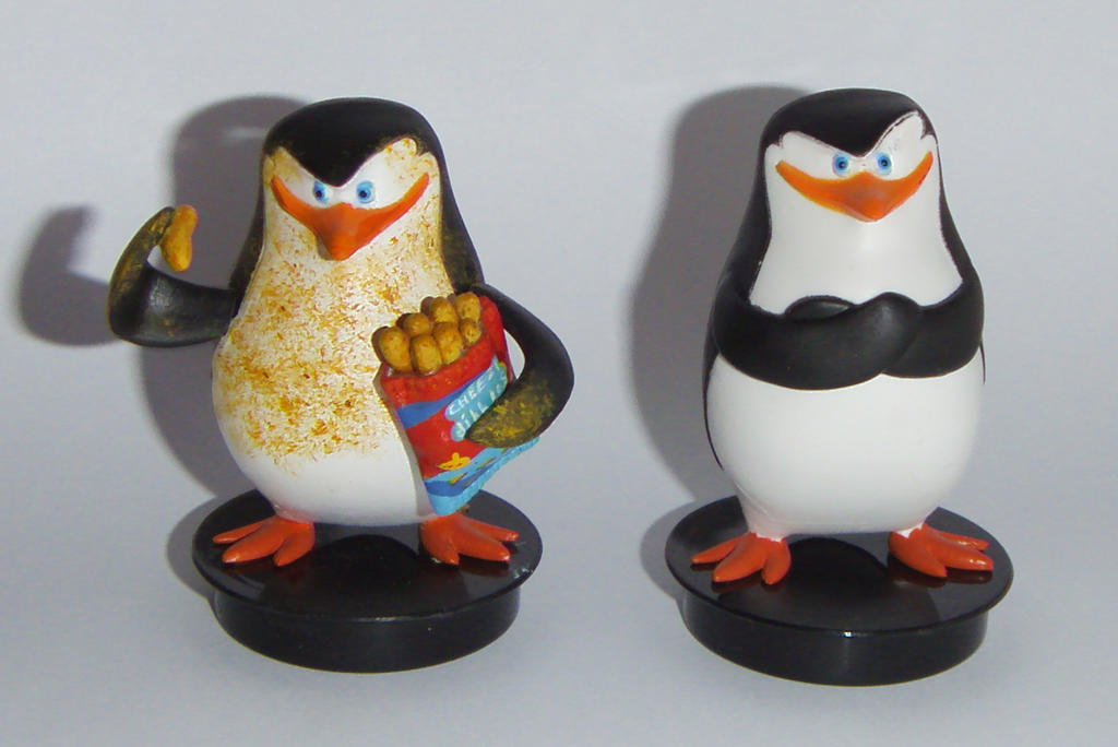PENGUINS FROM MADAGASCAR SKIPPER CHEESY CUSTOM by grayfox78