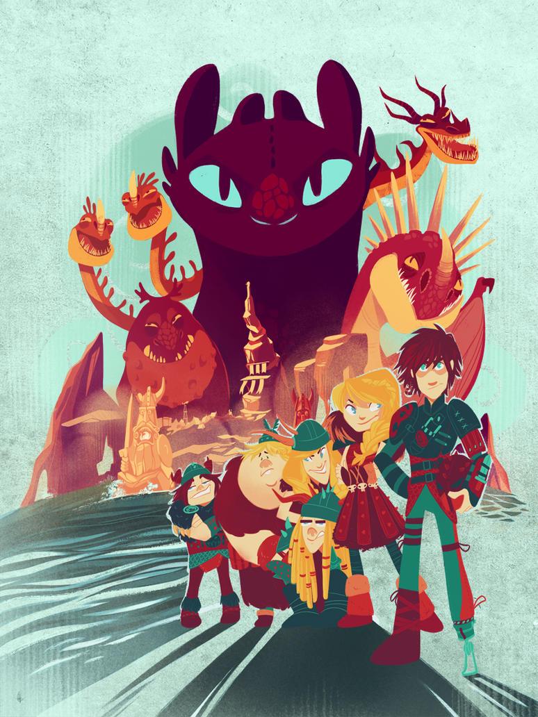 The Dragon Masters of Berk by eightbreeze