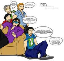 U2 and 1 of Edge's clones
