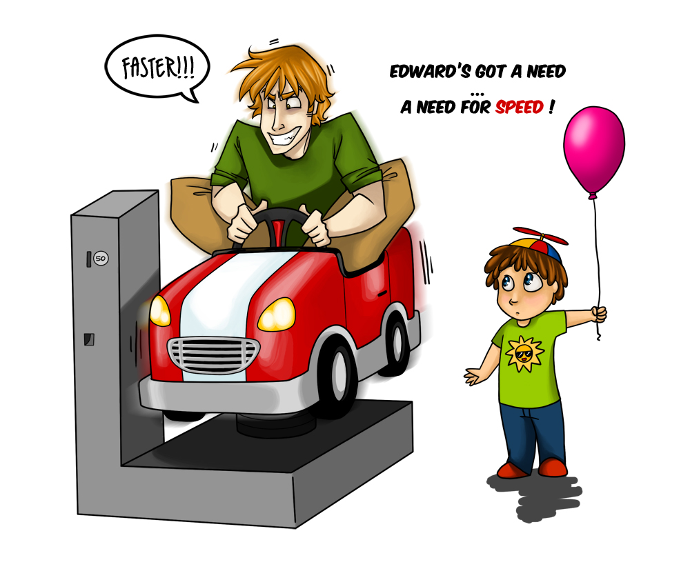 Edward's Got A Need For Speed by eightbreeze