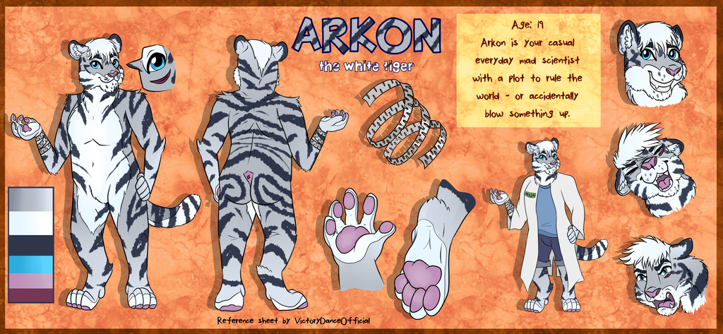 Commission - Arkon Reference Sheet by VictoryDanceOfficial