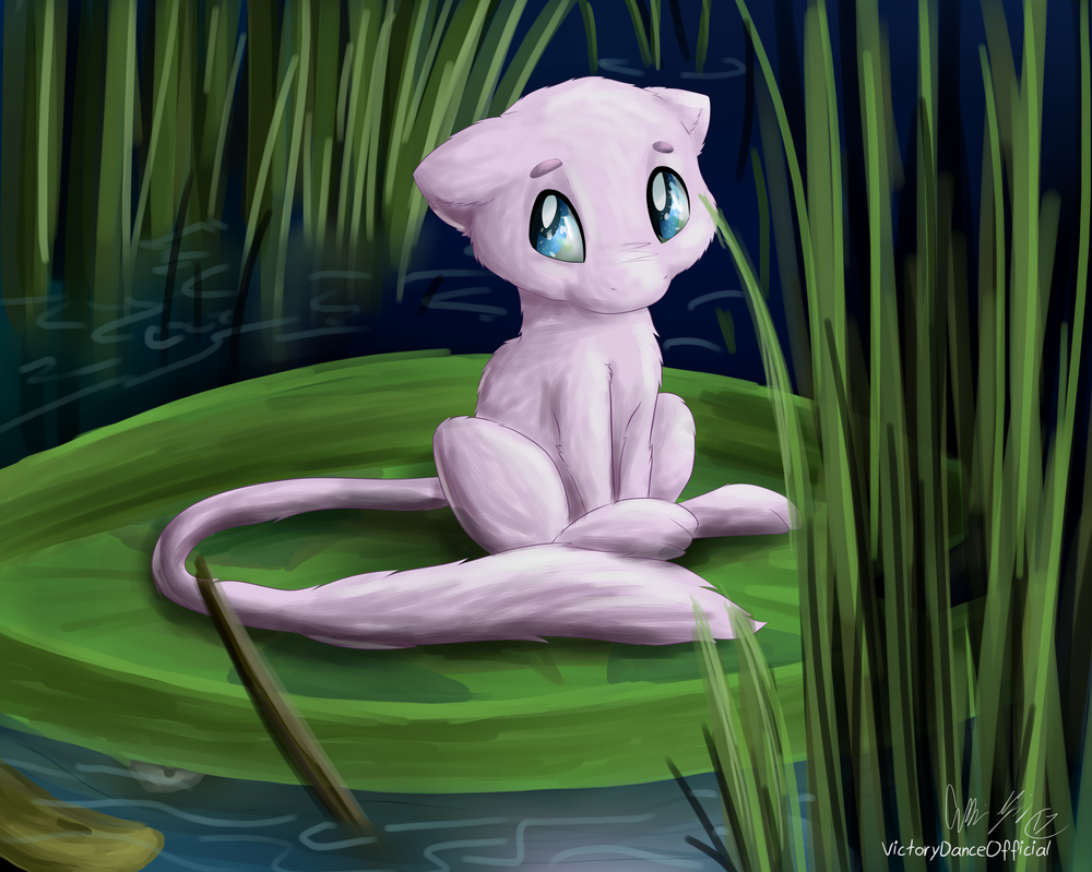 Mini-Mew (and Lotad too!) by VictoryDanceOfficial