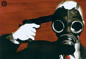 Gasmask Airbrushing by DigitalDecayDesigns