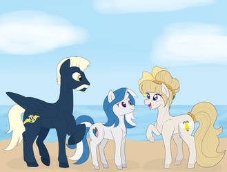 beach buddies by Maddymoiselle