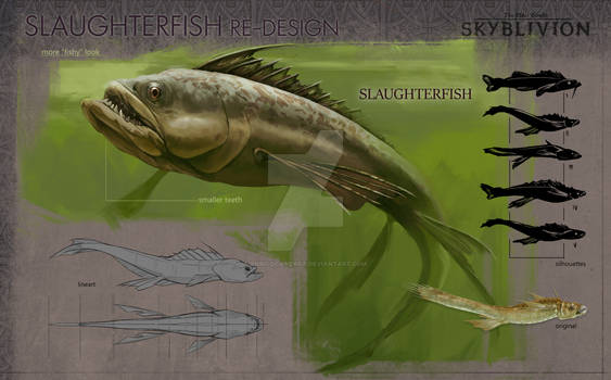 SLAUGHTERFISH Redesign for Skyblivion