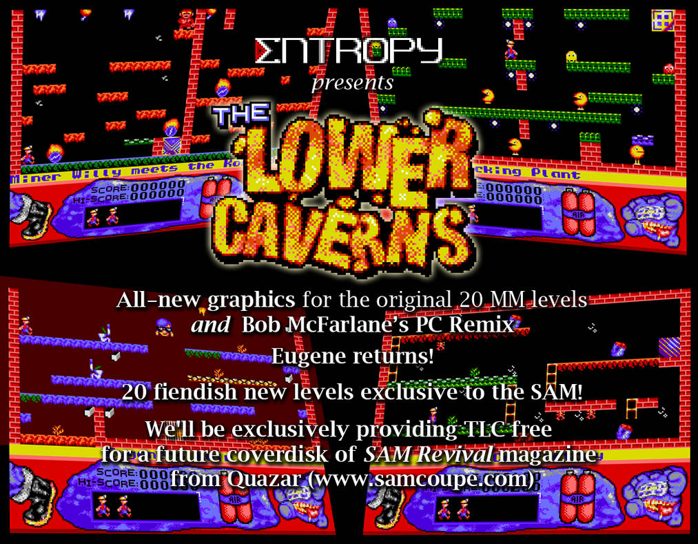 The Lower Caverns - RetCon 2019 promotional flyer