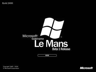 Microsoft Codename Le Mans Boot Screen by fabinator6