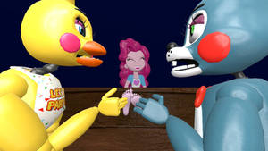 Chica and Bonnie tickle Pinkie 2 (request)