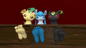 Leafeon, Glaceon and Umbreon feet (request)