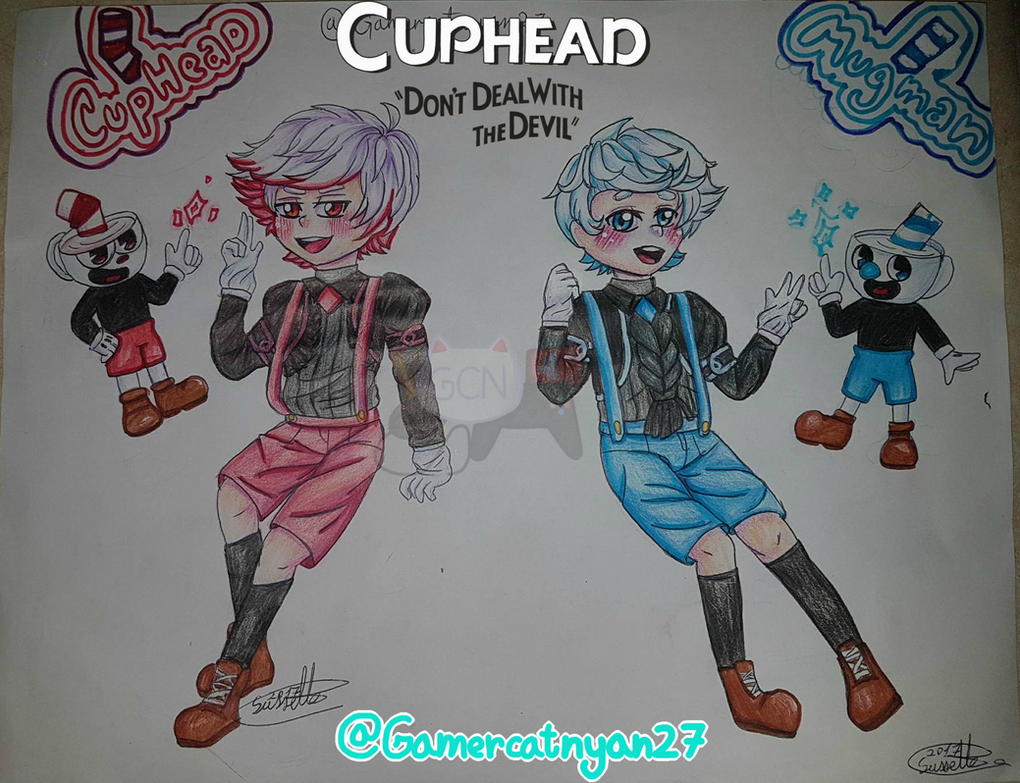 Cuphead And Mugman #NYAN!! #Cuphead by GaMeRCaTNYAN27