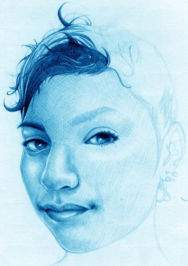 Autoportrait -WIP4 by mygirl