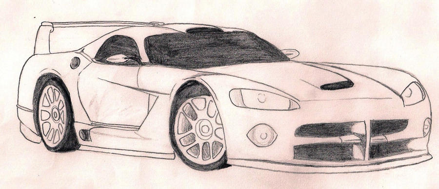 how to draw a viper car