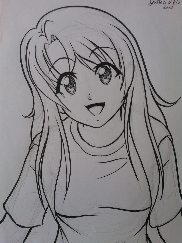 Desenho de uma menina qualquer by Eijinet