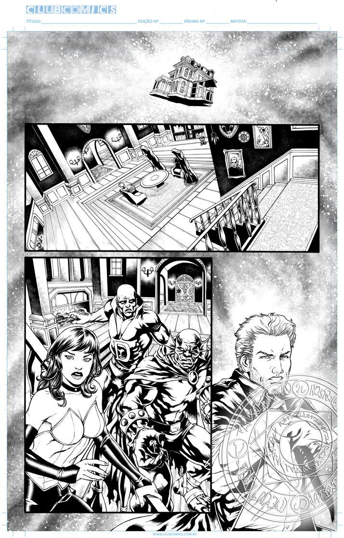 Sample ink Dark Justice Leage by Eijinet