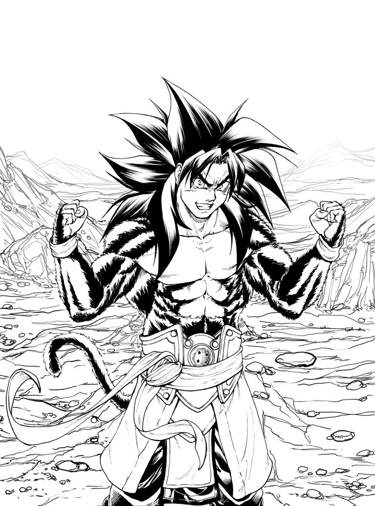 Goku Ssj4 Heroes by Eijinet