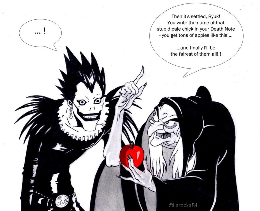 Ryuk and the poisoned apple by Larocka84 on DeviantArt