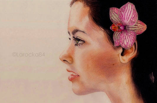Profile with orchid