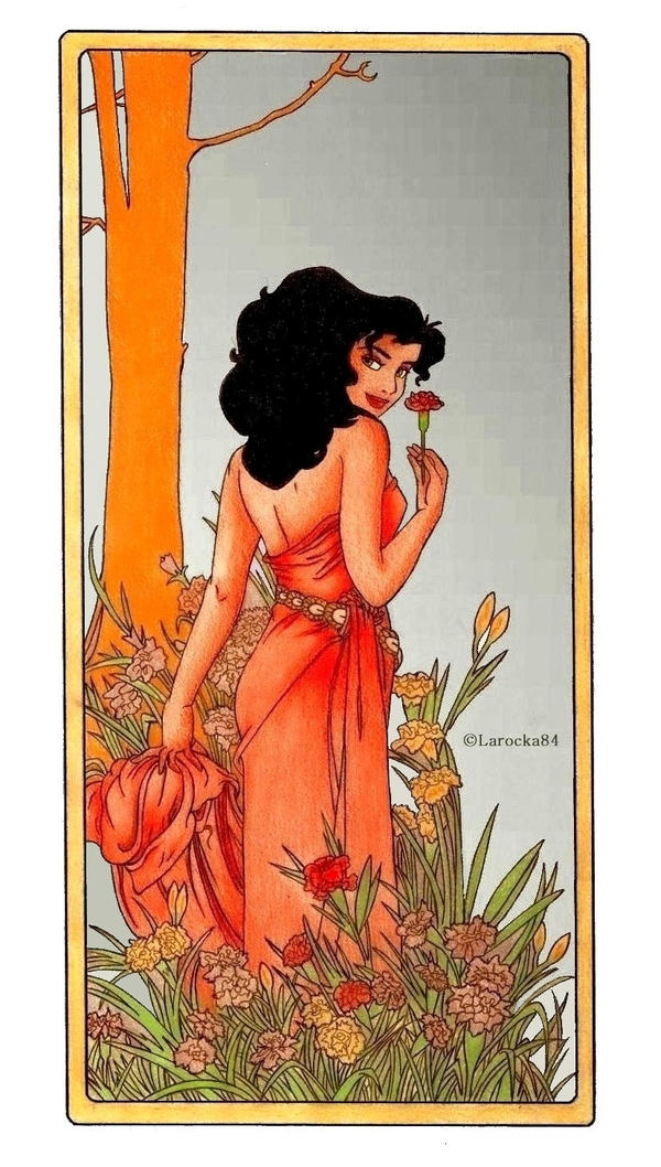 Esmeralda - Mucha's Flowers: Carnation by Larocka84