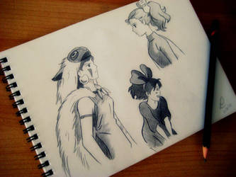 Hayao Miyazaki sketches