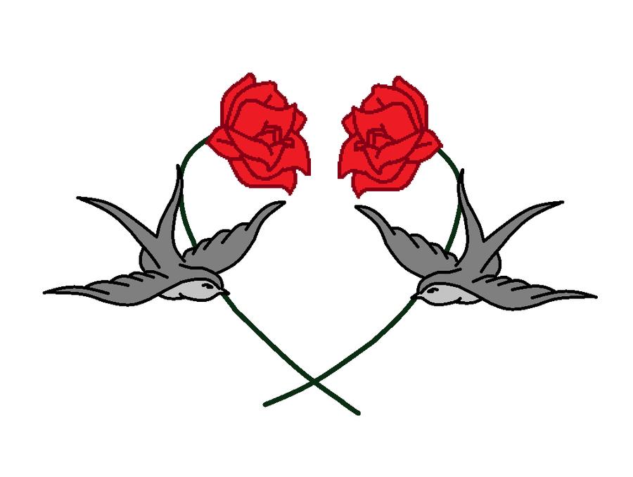 bird and rose. Black Bedroom Furniture Sets. Home Design Ideas