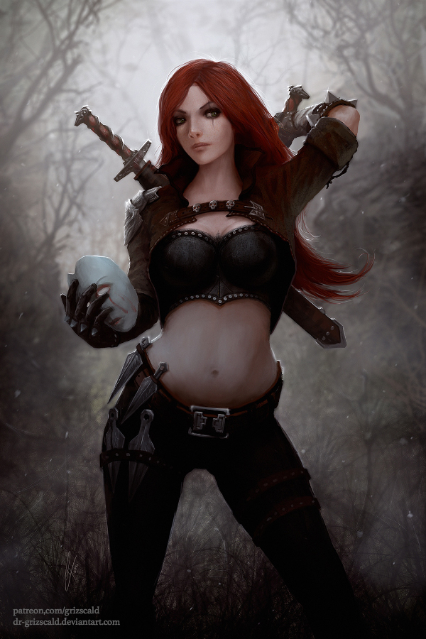 Katarina, the Sinister Blade by dr-grizscald