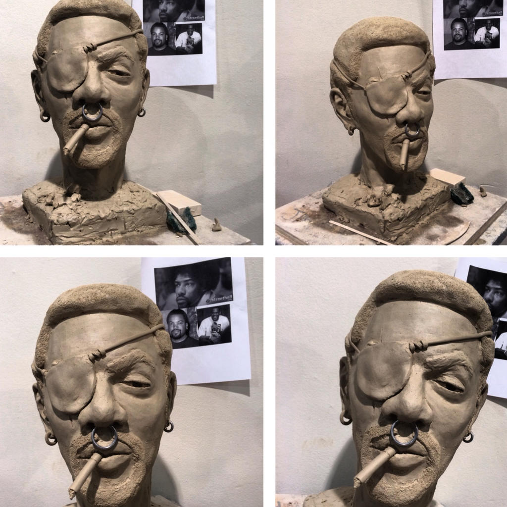 WIP sculpture for figure modeling class by jakationvacation