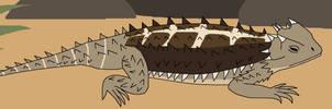 Crouching Spiky Lizard