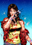 X-23: art by Daniele Torres. Colors by me.