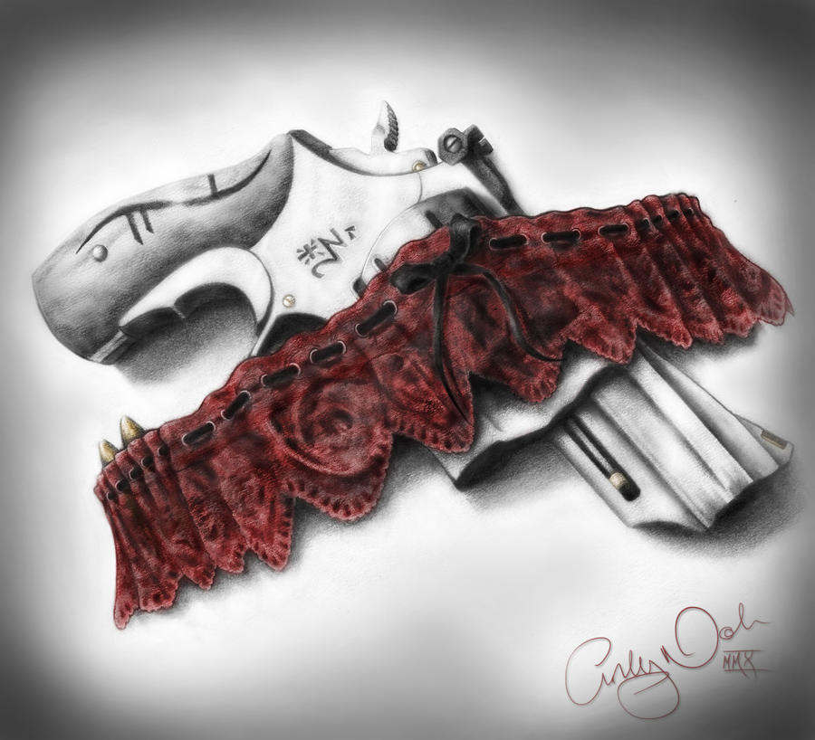 Tough love by t o n e on deviantart for Gun holster tattoo