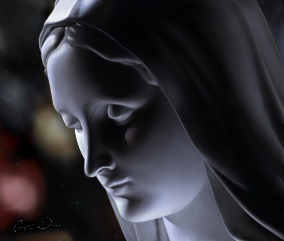 Virgin Mary by t-o-n-e