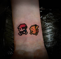 8 Bit Pokemon Tattoo by t-o-n-e