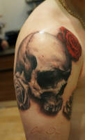 more Skull and Roses Tattoo 2 by t-o-n-e