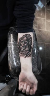 Christ from La Pieta Tattoo