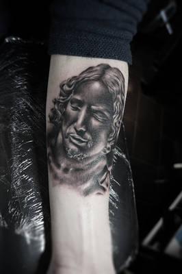 Christ from La Pieta Tattoo II