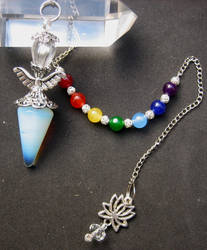 Opalite Angel 7 Chakras Pendulum