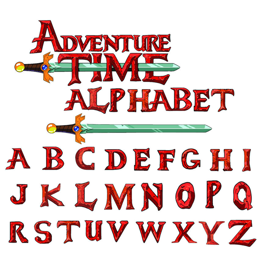 AT Font Alphabet By Ask Angelo