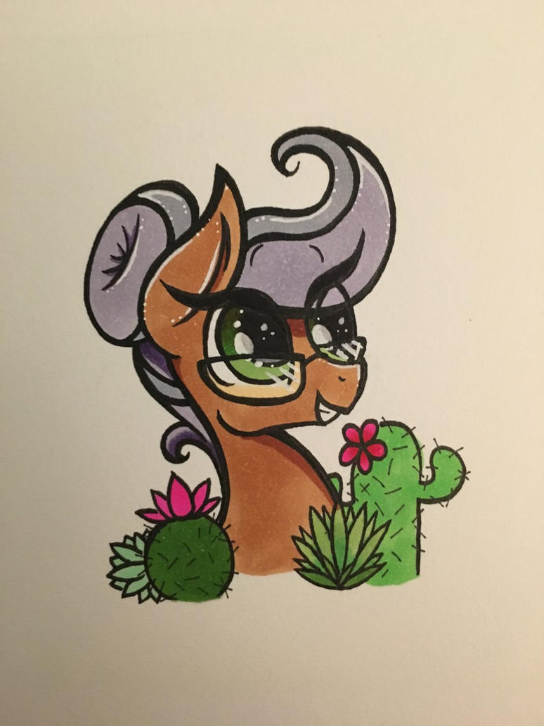 Cactus horse by DramaticEmily
